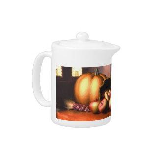 Harvest Still Life Tea Pot