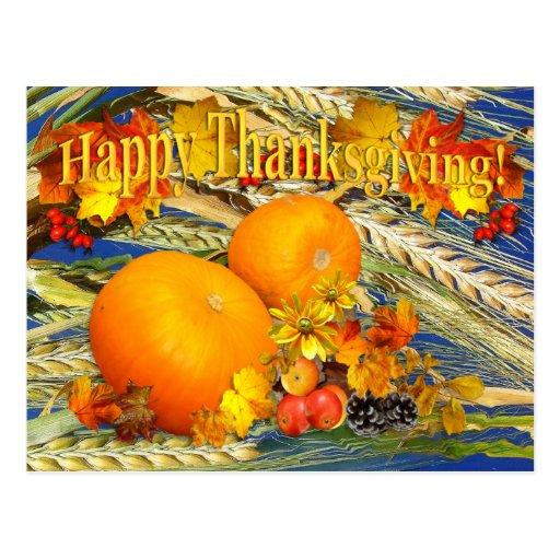 Harvest Thanks ~ Postcard