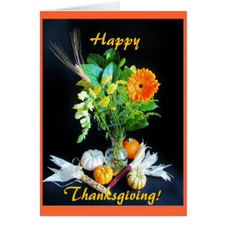 Harvest: Thanksgiving flowers Card