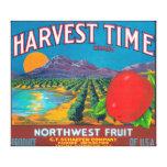 Harvest Time Apple Label - Yakima, WA Canvas Print