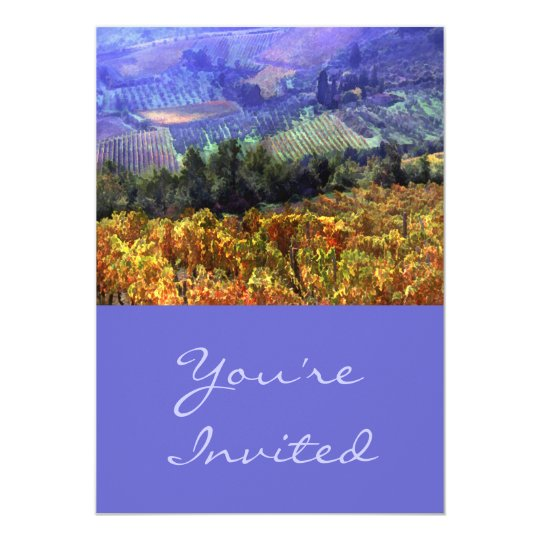 Harvest Time at the Vineyard Card