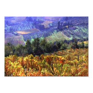 """Harvest Time at the Vineyard 5"""" X 7"""" Invitation Card"""