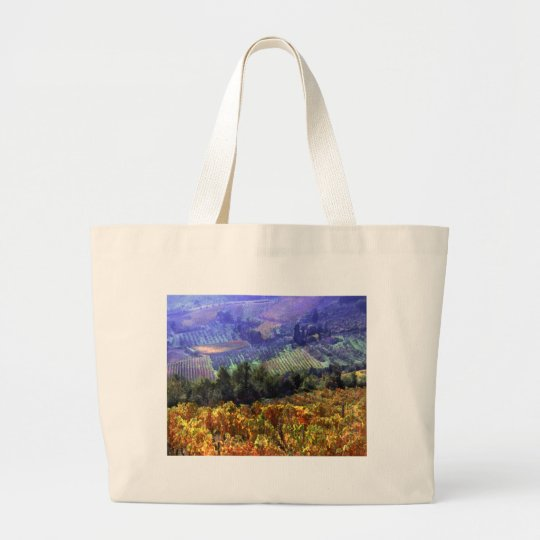 Harvest Time at the Vineyard Large Tote Bag