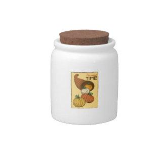 Harvest Time Candy Jars