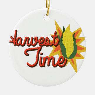 Harvest Time Corn Ceramic Ornament