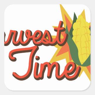 Harvest Time Corn Square Sticker