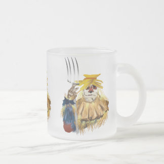 Harvest Time Frosted Glass Coffee Mug