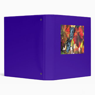 Harvest Time Grapes and Leaves 3 Ring Binder