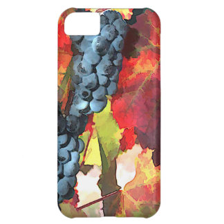 Harvest Time Grapes & Leaves Cover For iPhone 5C
