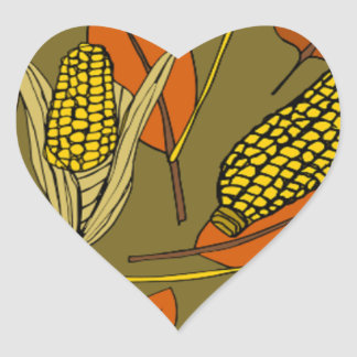 harvest time heart sticker