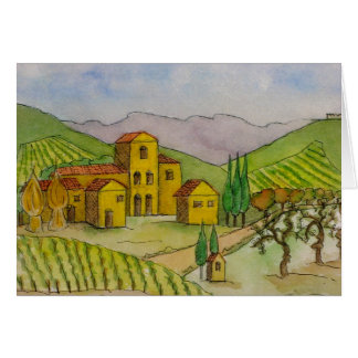 Harvest Time in Chianti Card