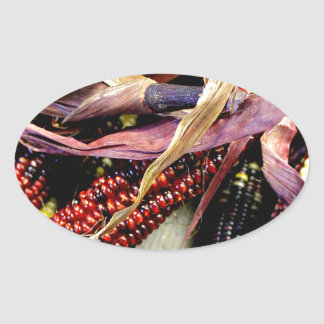 Harvest Time Oval Sticker