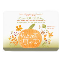 Harvest Time Pumpkin Invitation