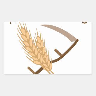 Harvest Time Rectangular Sticker