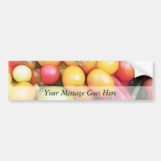 Harvest Time - Tomatoes! Car Bumper Sticker