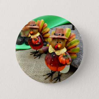 Harvest Turkey Pinback Button