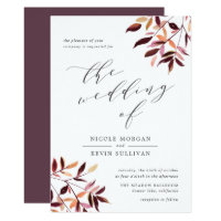 Harvest | Watercolor Foliage Wedding Invitation