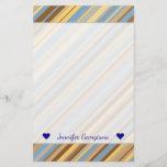 [ Thumbnail: Harvest Wheat Field Setting Inspired Stripe Design Stationery ]