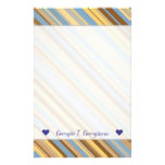 [ Thumbnail: Harvest Wheat Field Setting Inspired Stripe Design Stationery ]