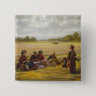 Harvesters resting in the Sun, Berkshire, 1865 Button