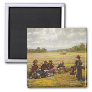 Harvesters resting in the Sun, Berkshire, 1865 Magnet