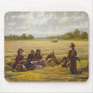 Harvesters resting in the Sun, Berkshire, 1865 Mouse Pad