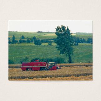 Harvesting (1980s 35mm Colorslide) Business Card