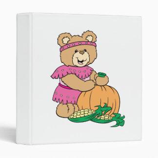 harvesting girl thankgiving teddy bear design binder