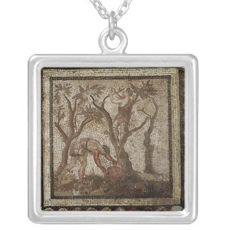 Harvesting Grapes, from Saint-Romain-en-Gal Silver Plated Necklace
