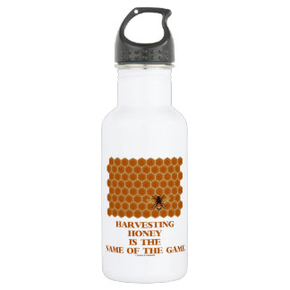 Harvesting Honey Is The Name Of The Game Water Bottle