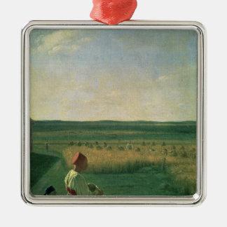 Harvesting in Summer, 1820s Metal Ornament