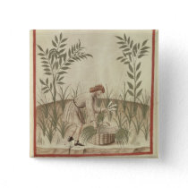 Harvesting Leeks, from 'Tacuinum Sanitatis' Pinback Button