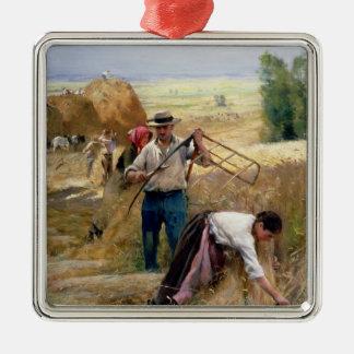 Harvesting Metal Ornament
