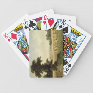 Harvesting (oil on canvas) bicycle card decks