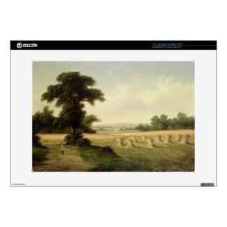 "Harvesting (oil on canvas) skin for 15"" laptop"