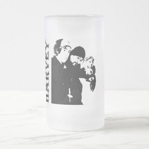 Harvey 7, Harvey 8 Frosted Glass Beer Mug