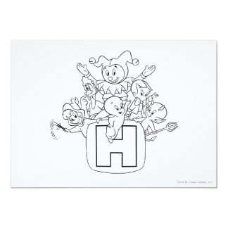 Harvey and Friends 1 5x7 Paper Invitation Card