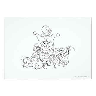 Harvey and Friends 2 5x7 Paper Invitation Card