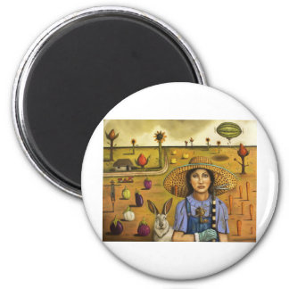 Harvey and the Eccentric Farmer 2 Inch Round Magnet