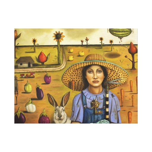 Harvey and the Eccentric Farmer Stretched Canvas Prints