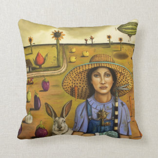 Harvey and the Eccentric Farmer Throw Pillow
