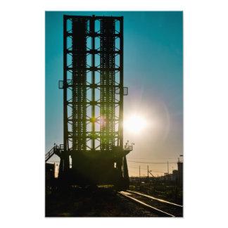 Harvey Canal Bridge Silhouette Photo Print