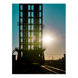 Harvey Canal Bridge Silhouette Postcard