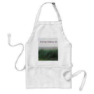 Harvey Cedars, NJ:  Bay with Green Grass/Reeds Adult Apron