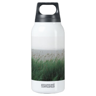 Harvey Cedars, NJ:  Bay with Green Grass/Reeds Thermos Water Bottle