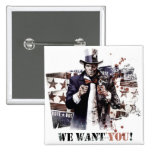 Harvey Dent - We Want You! 2 Inch Square Button