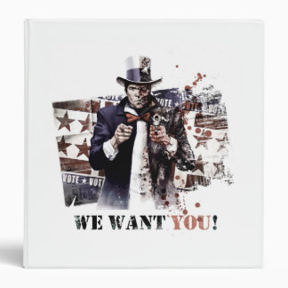 Harvey Dent - We Want You! 3 Ring Binder