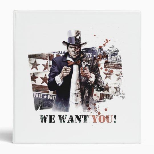 Harvey Dent - We Want You! 3 Ring Binder