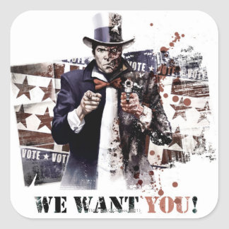Harvey Dent - We Want You! Square Sticker