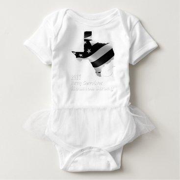 USA Themed Harvey Design wht txt.gif Baby Bodysuit